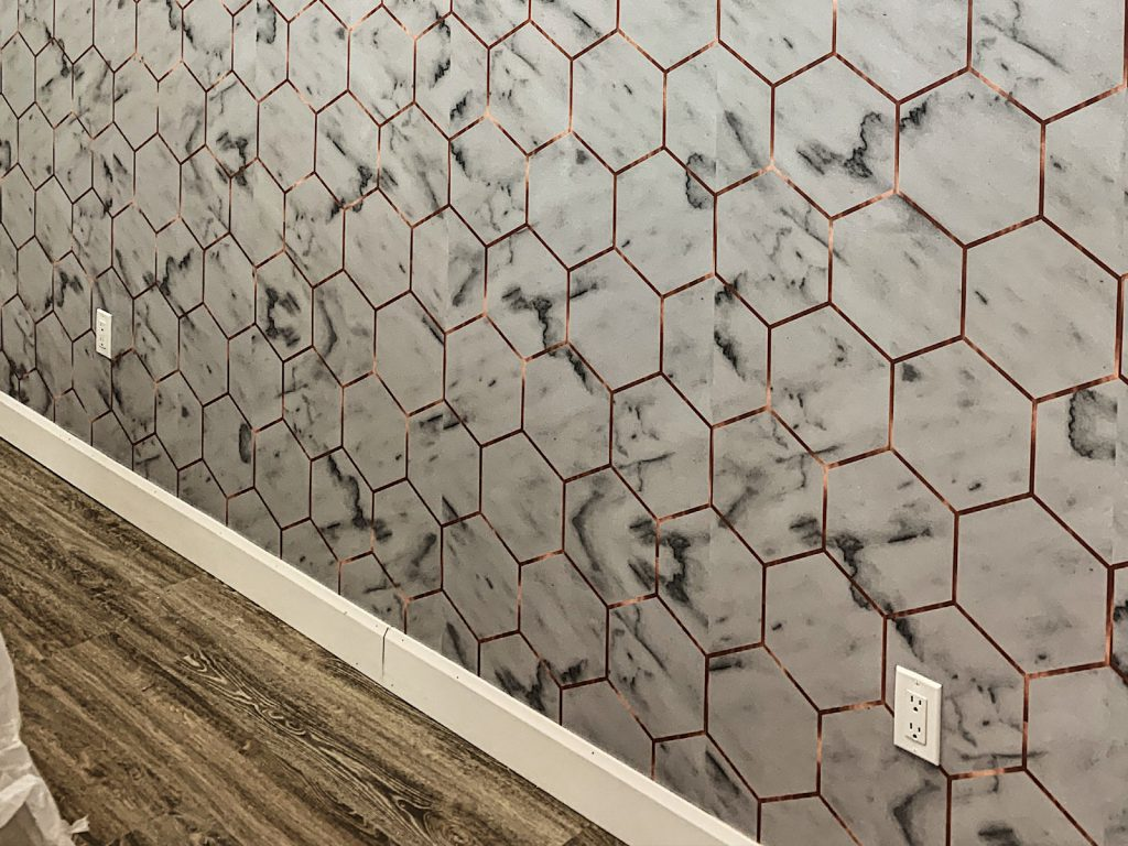 amazing wallpaper installation by prestige painting Richmond Hill
