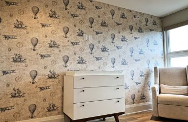 luxury wallpaper installation in custom home Vaughan