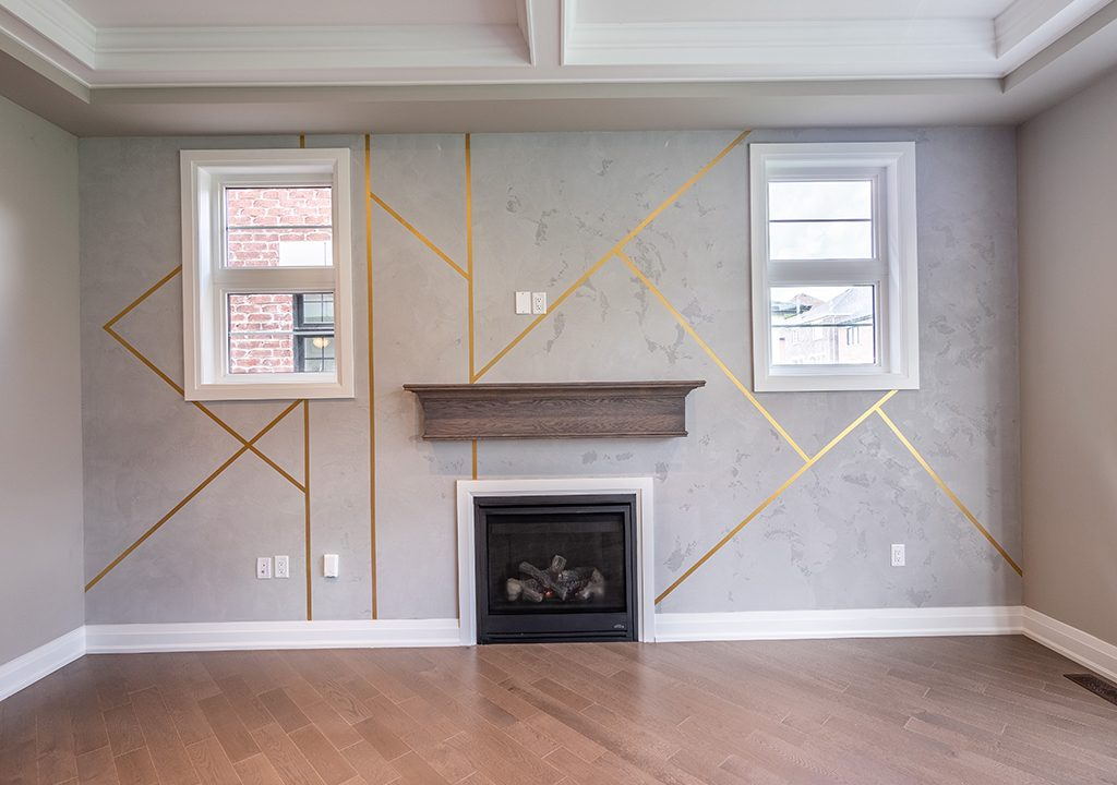 luxury wall finish in amazing family room Thornhill