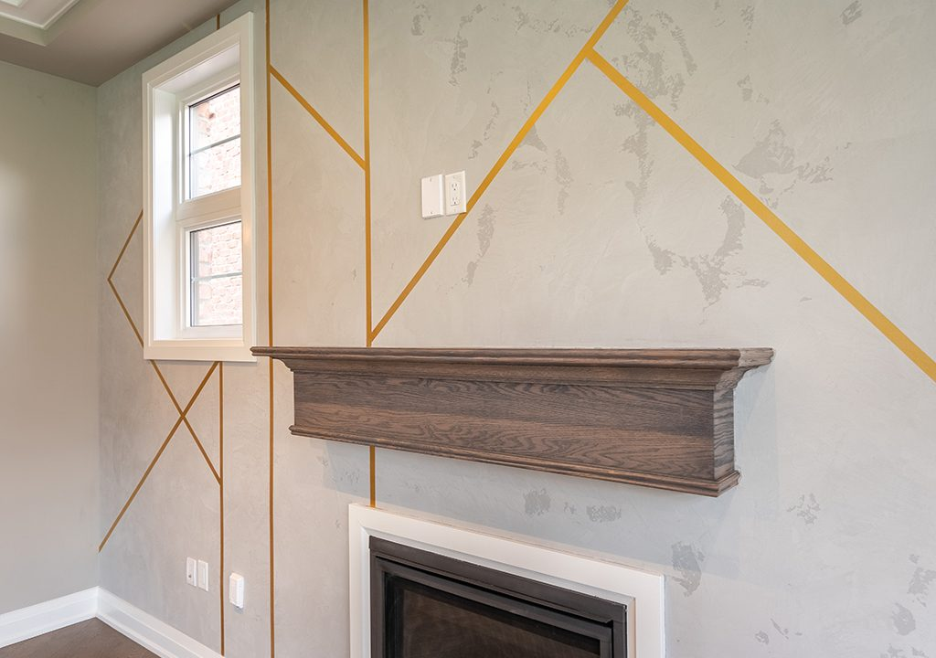 luxury wall design in family room by prestige painting Vaughan