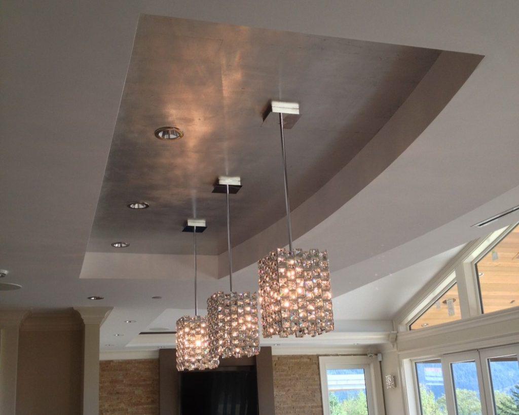 Silver Leaf ceiling decor