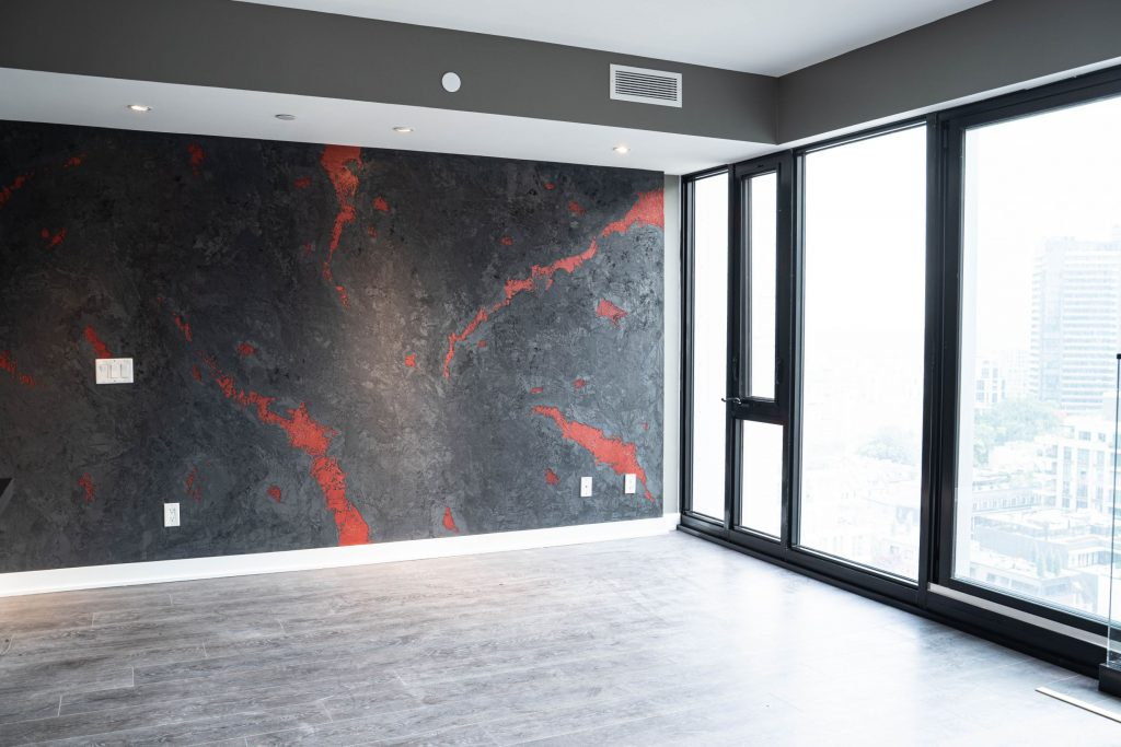 Amazing Luxury Wall Finish in Condo Apartment Richmond Hill