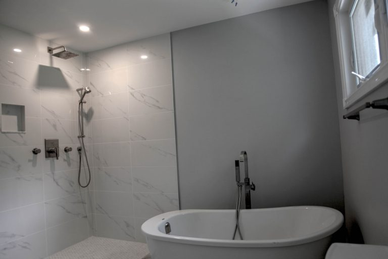 interior painting of a bathroom in custom home Thornhill