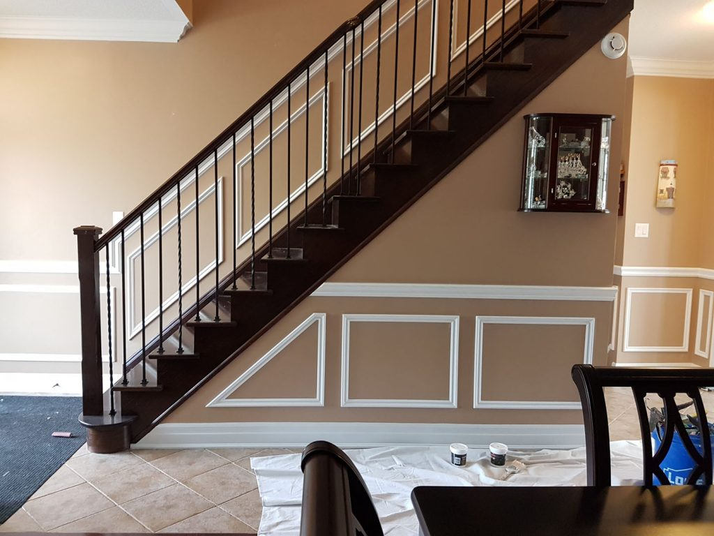 Coffered Decor and Luxury Beige Painting in Amazing Home Painting Project Richmond Hill