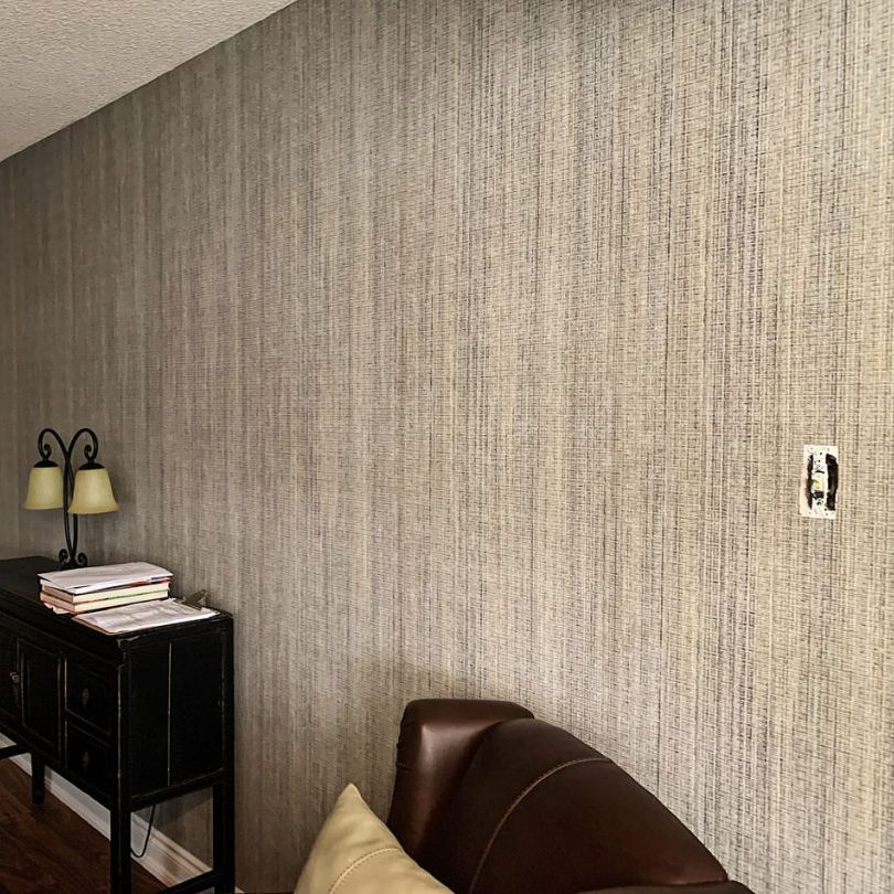 custom home with luxury wallpaper installation by prestige painting