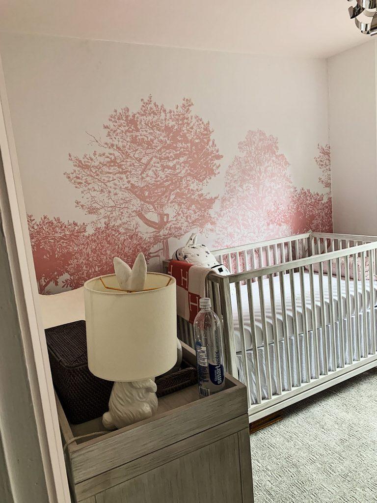 Custom wallpaper in the kids room by prestige painting Aurora