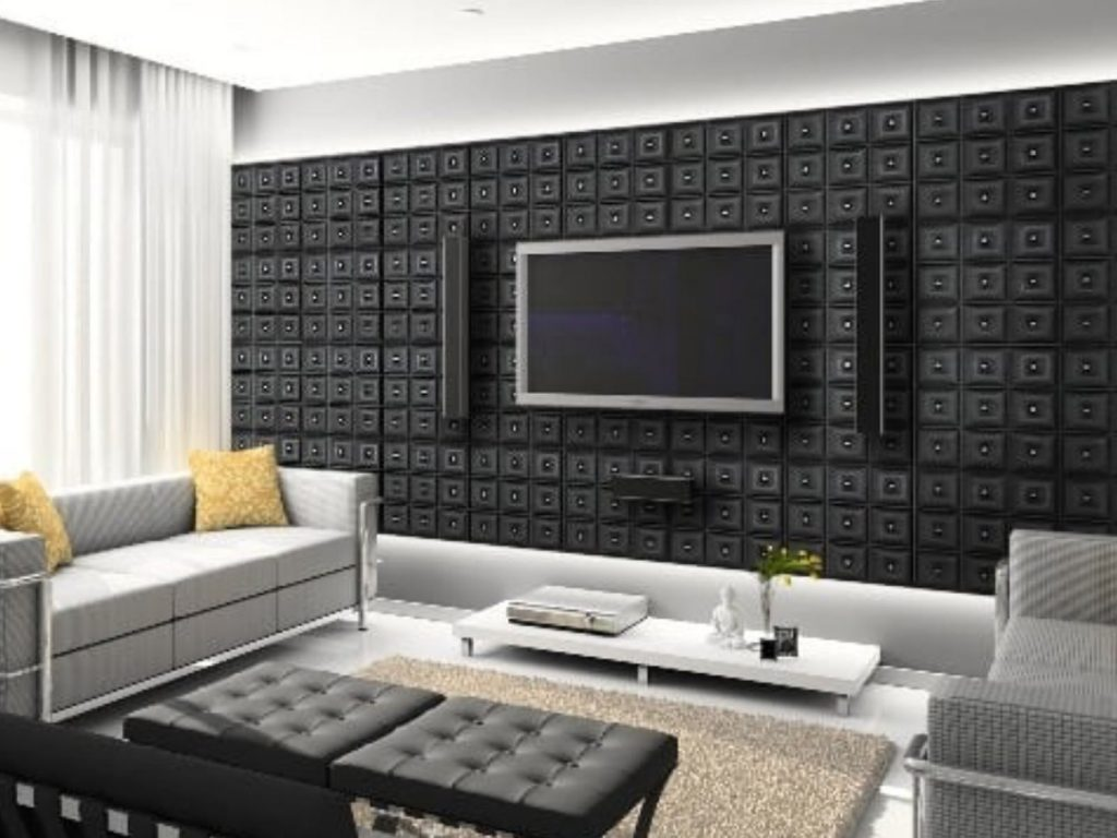 custom luxury wall finish in the living room Richmond Hill