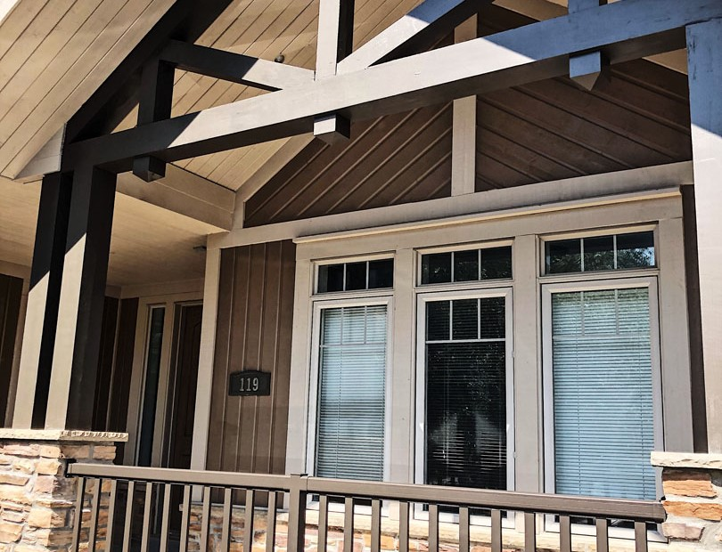 Exterior Painting on Custom Home Thornhill